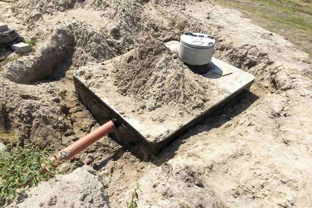 Jednokomorová betonová jímka - usazení do výkopu