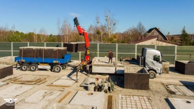 Doprava betonových nádrží od výrobce