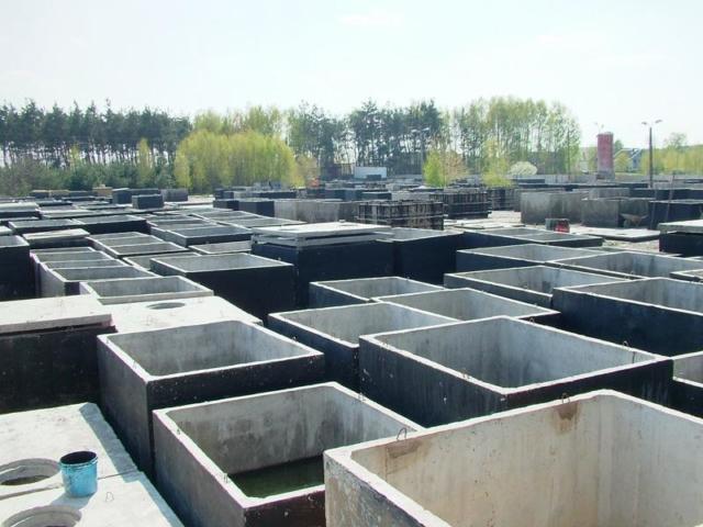 Jednokomorové betonové jímky - výroba