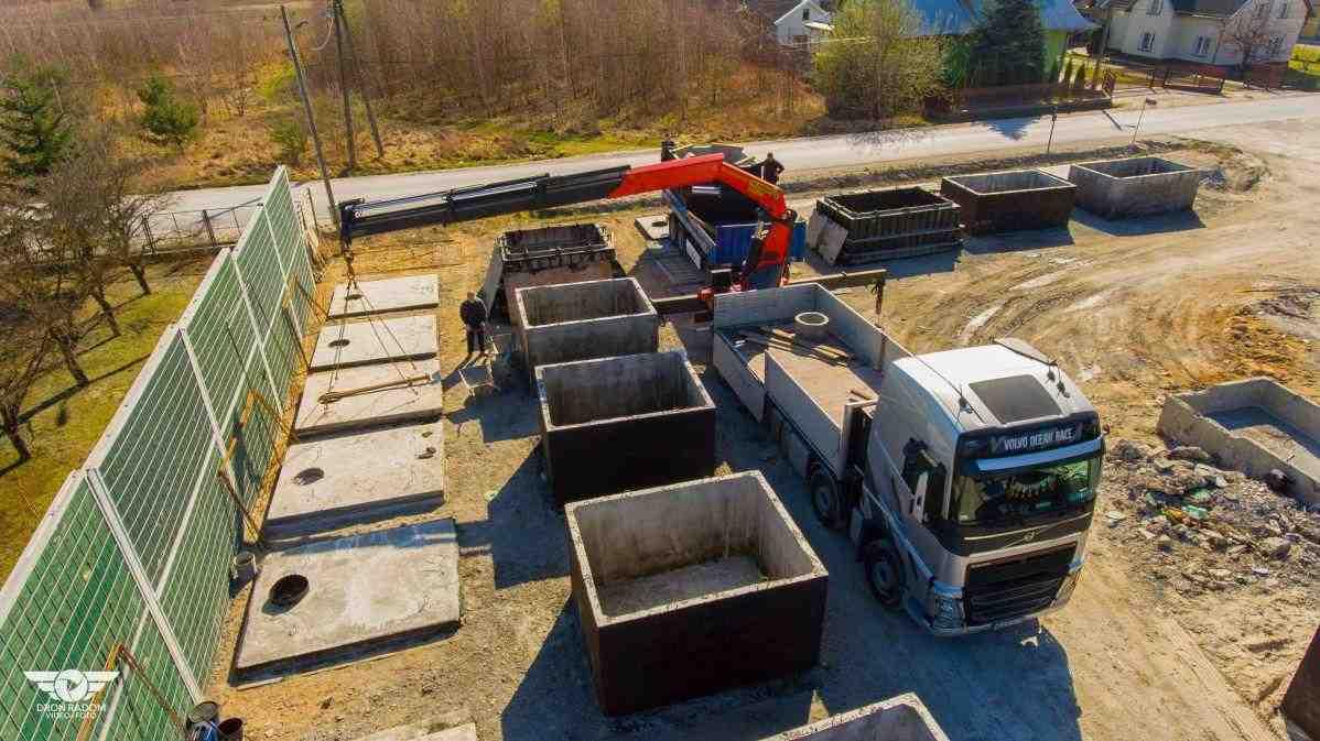 Doprava betonové žumpy od výrobce